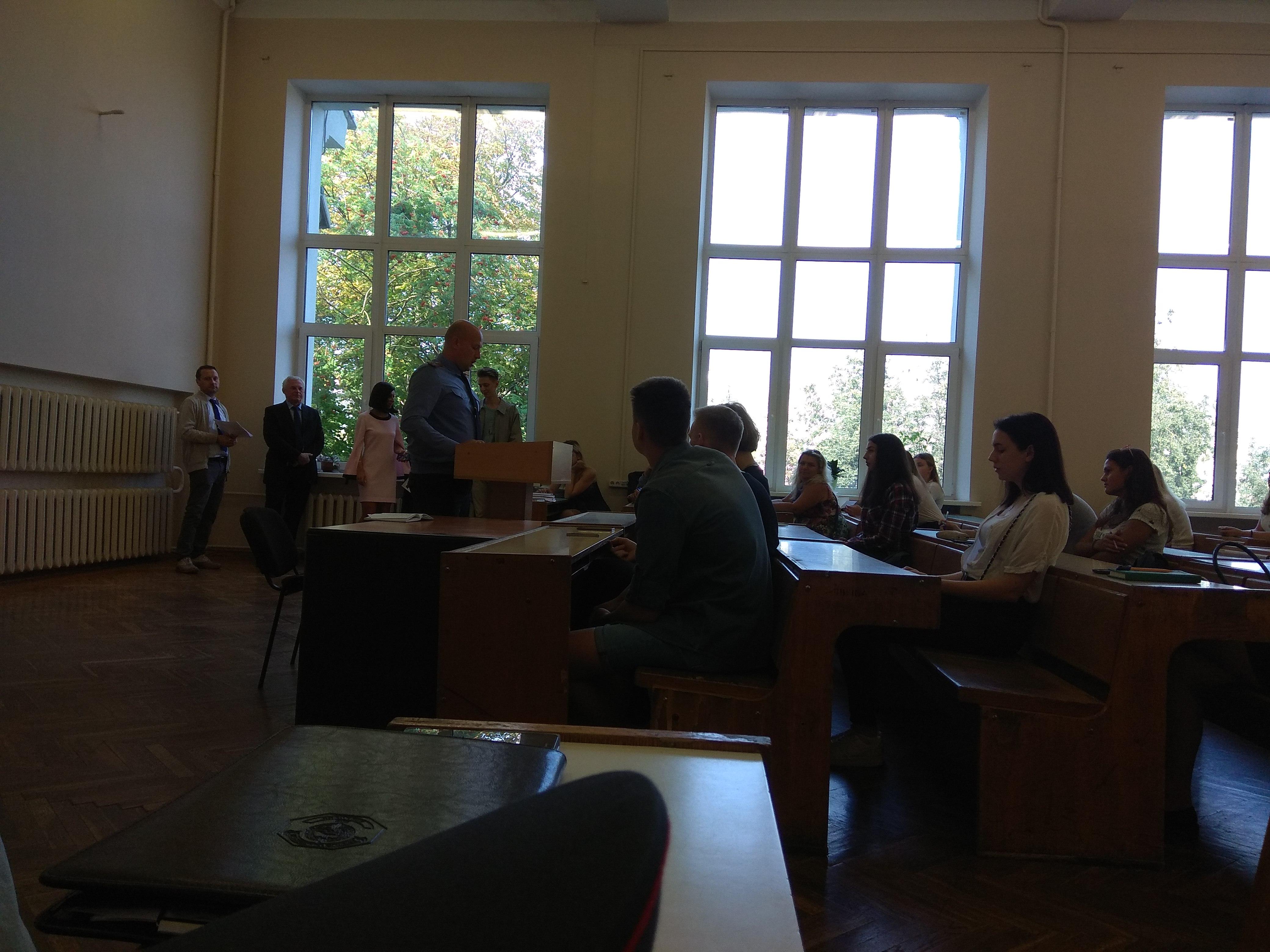 Встречи первокурсников с представителями правоохранительных органов
