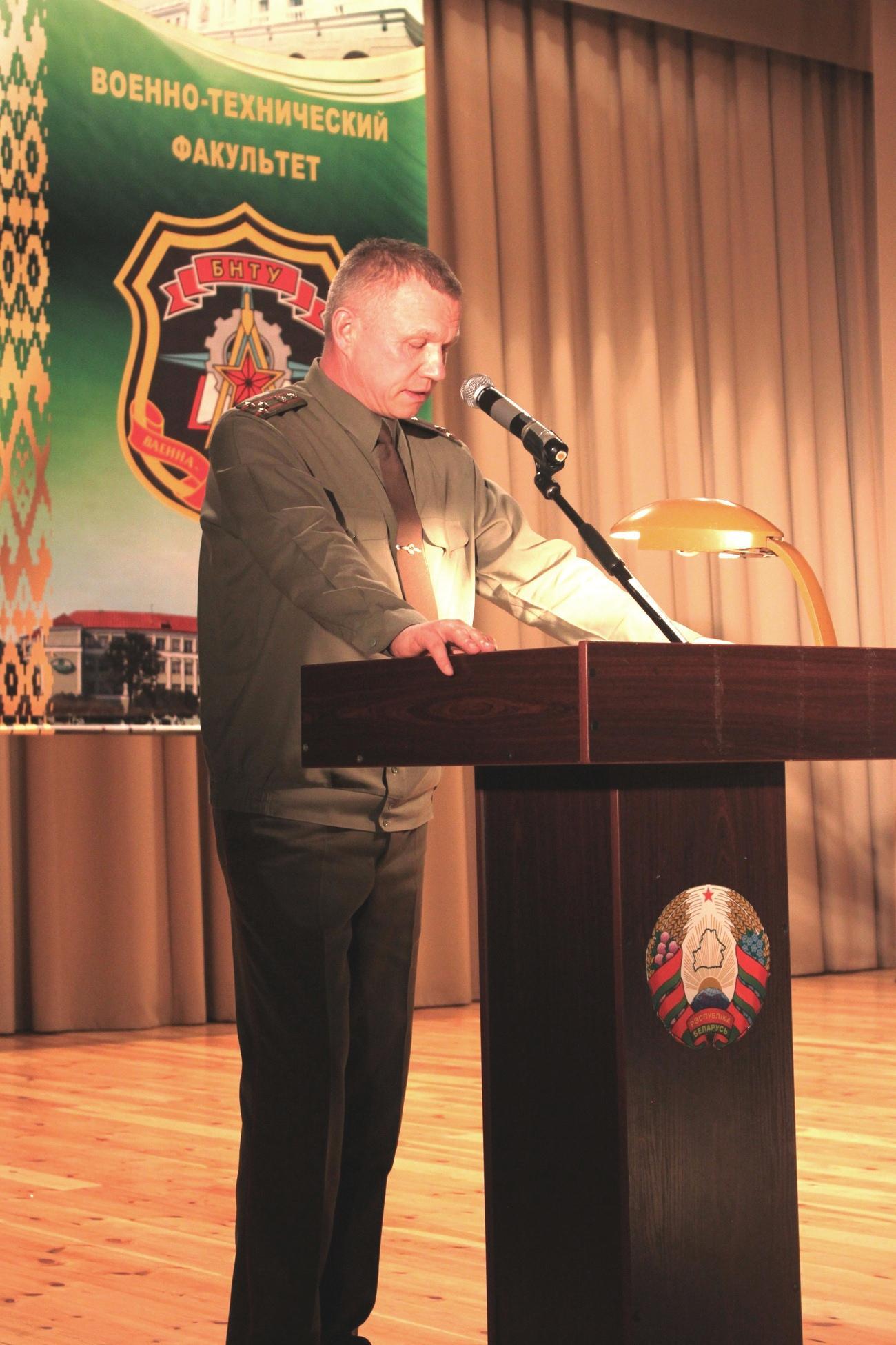 НФ полковник  Герасимюк А.И. поздравил мотострелков с праздником и открыл мероприятие