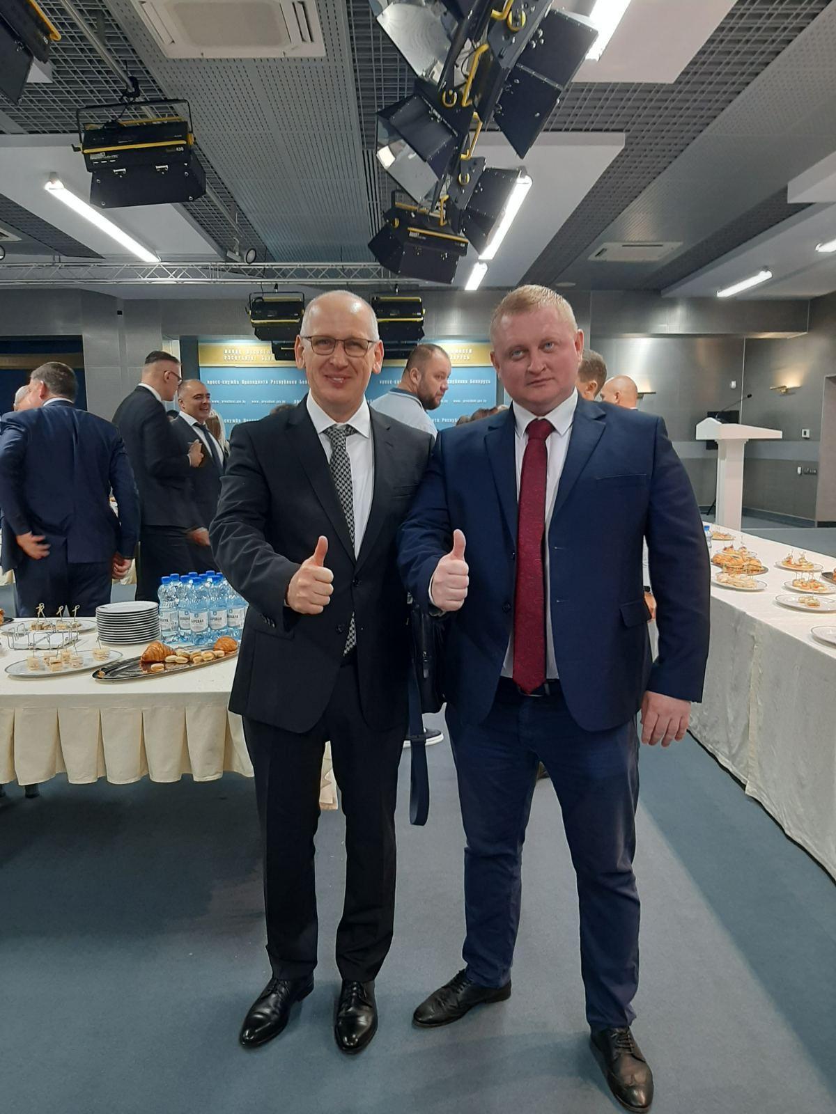 С. Ю. Солодовников и политолог А. П. Шпаковский