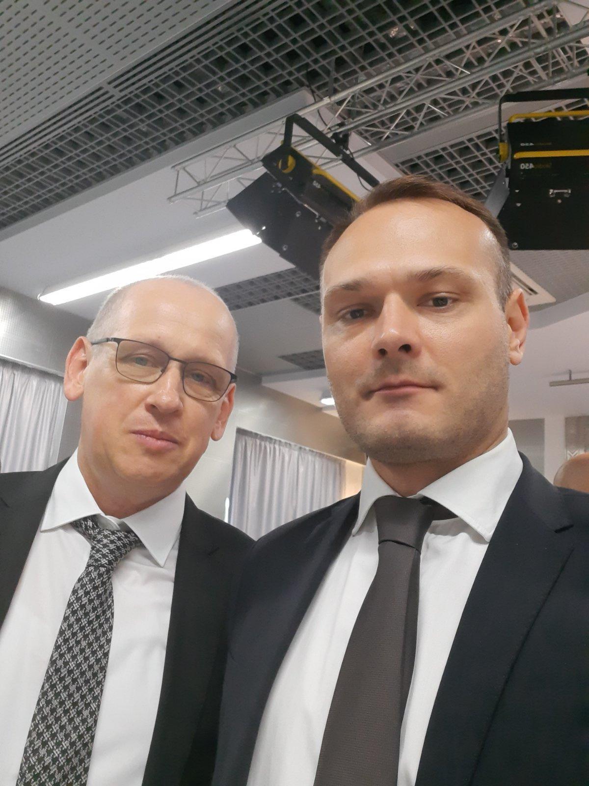С. Ю. Солодовников и политолог В. А. Боровик