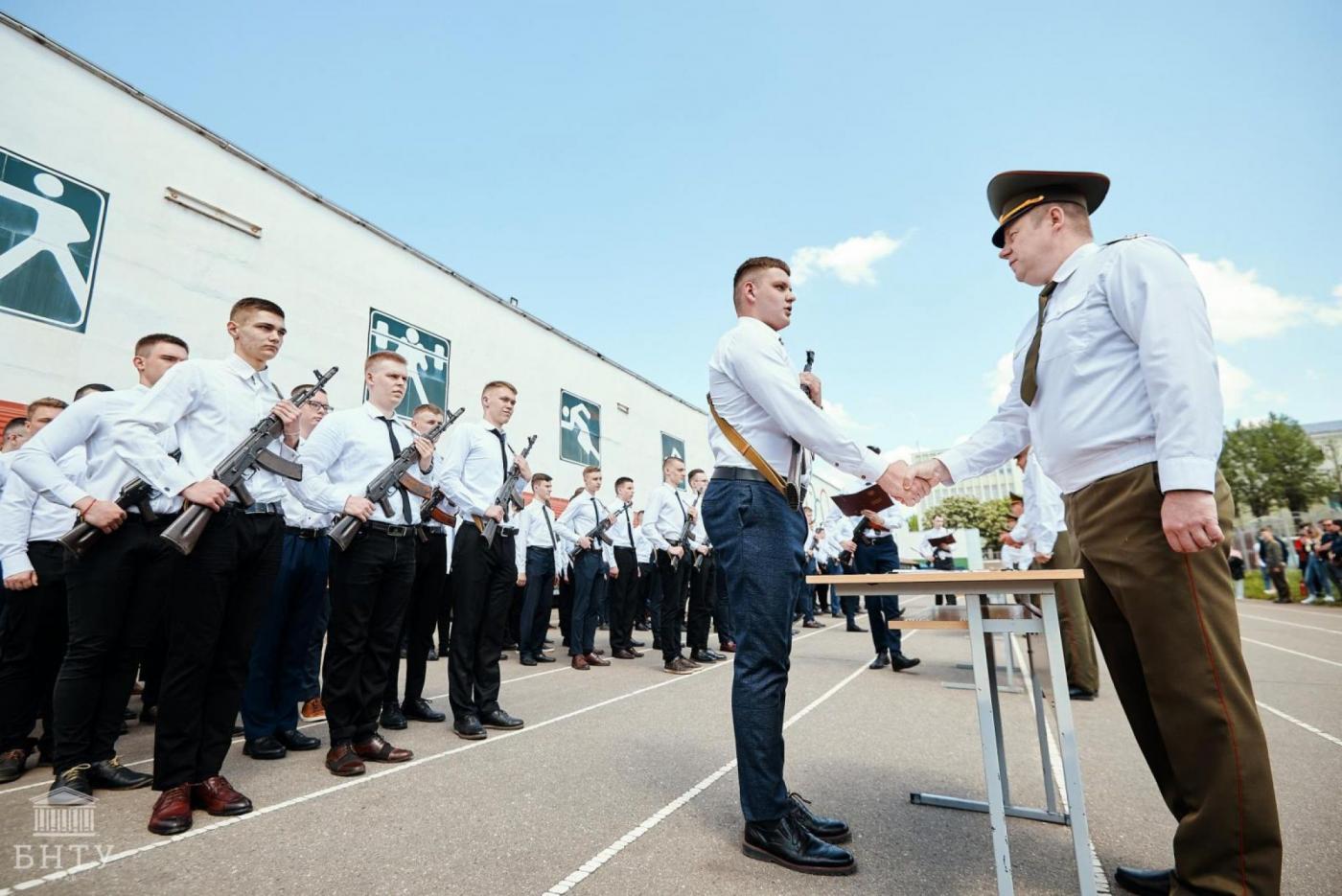 Студенты БНТУ приняли военную присягу