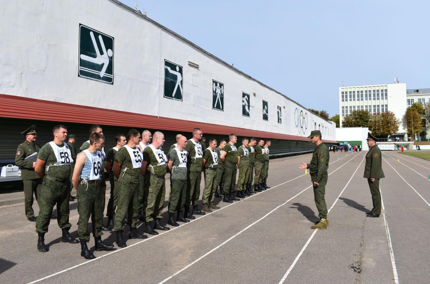 Проверка уровня физической подготовленности офицеров военно-технического факультета