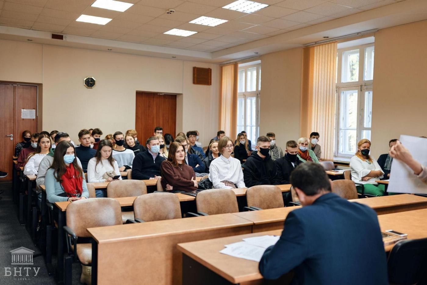 Встреча руководства ОАО «МАЗ» со студентами БНТУ