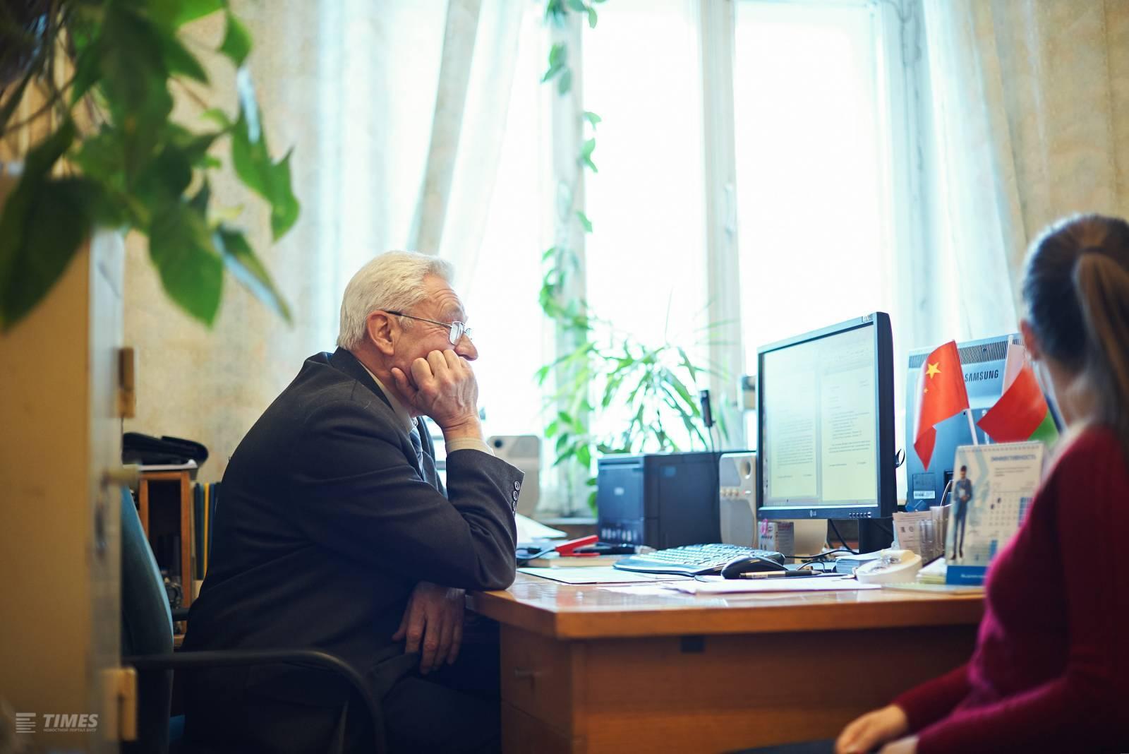 Юрий Викторович Ануфриев и журналист Times БНТУ