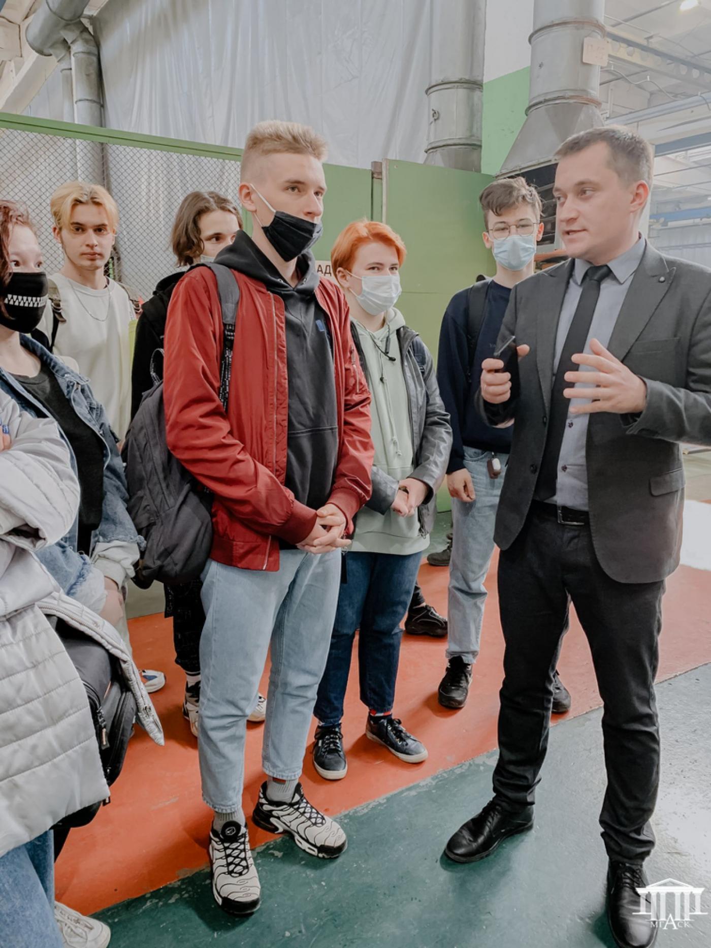 Экскурсия по предприятию «Белкоммунмаш» учащихся МГАСК