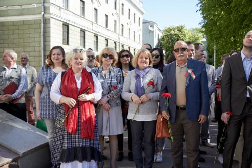 Митинг, посвященный 73-й годовщине Победы в Великой Отечественной войне от немецко-фашистских захватчиков