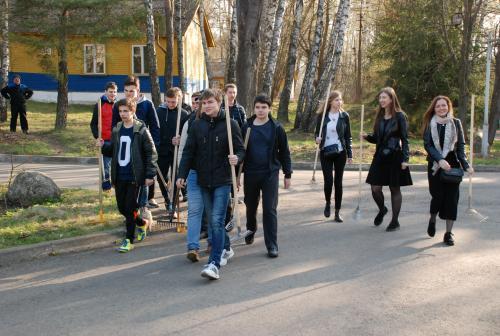21 апреля 2018 года состоялись мероприятия по благоустройству и наведению порядка на территории санатория-профилактория БНТУ «Политехник»